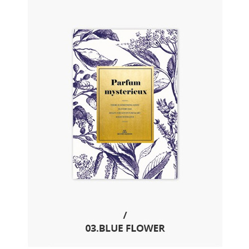 03 Blue flower - Second Mansion Perfume dateless weekly planner