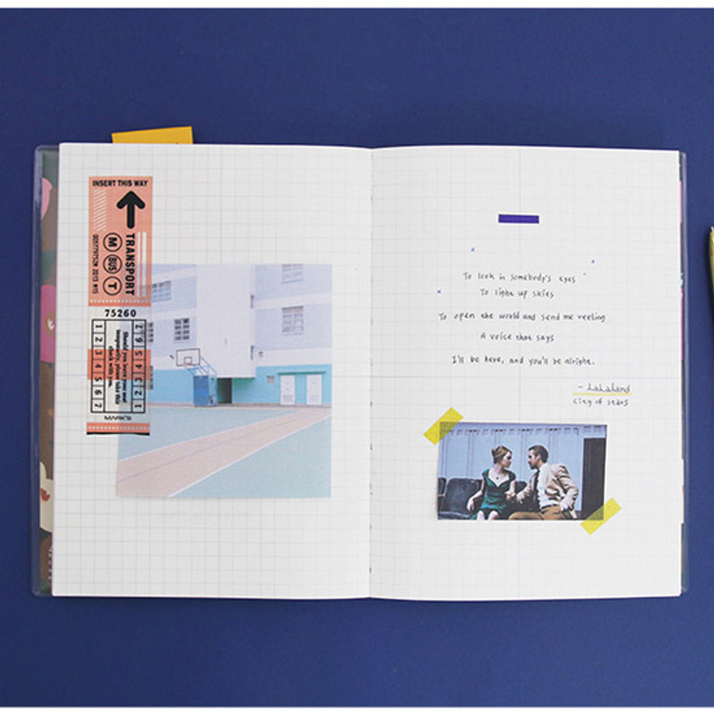 Grid note - Perfume dateless weekly diary planner