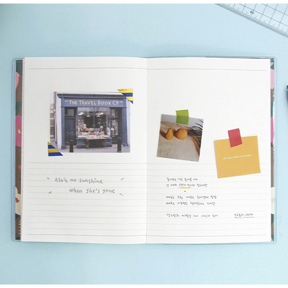 Lined note - Perfume dateless weekly diary planner