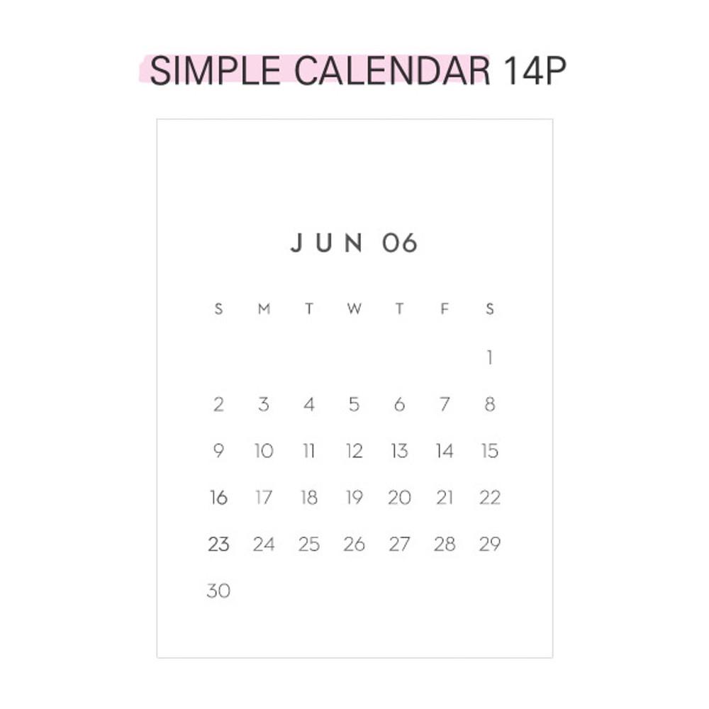 Simple calendar - Second mansion 2019 Moment monthly desk to flip calendar