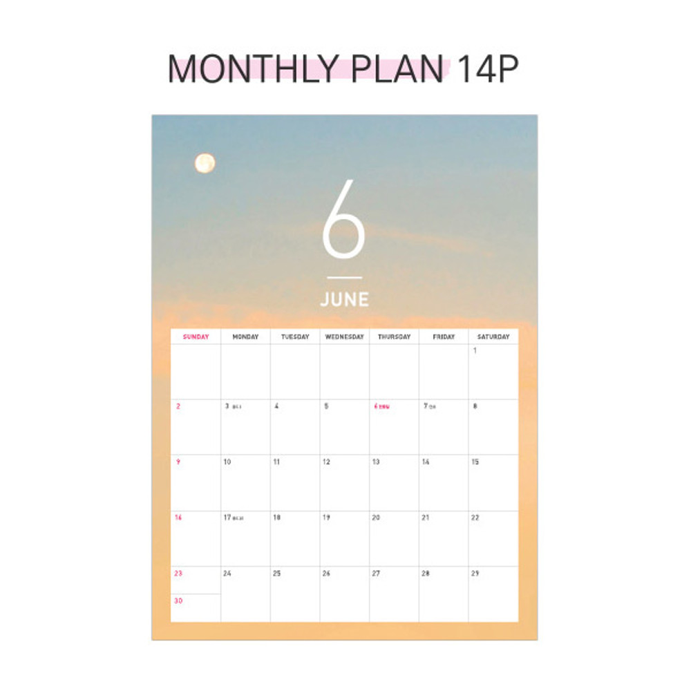 Monthly plan - Second mansion 2019 Moment monthly desk to flip calendar