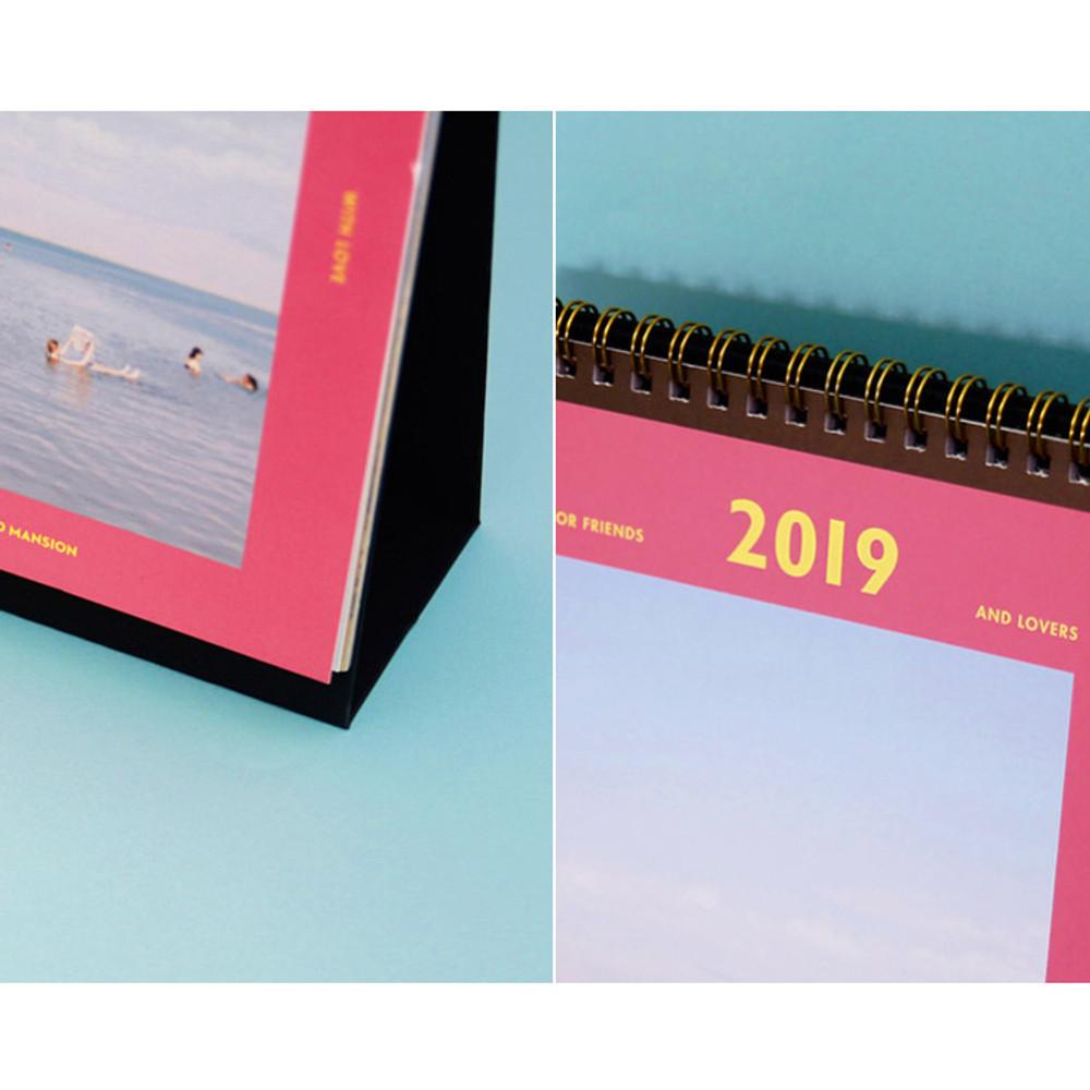 Second mansion 2019 Moment monthly desk to flip calendar