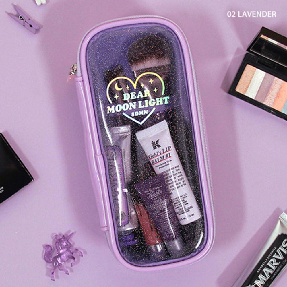 Lavender - Dear moonlight twinkle multi zip around pouch