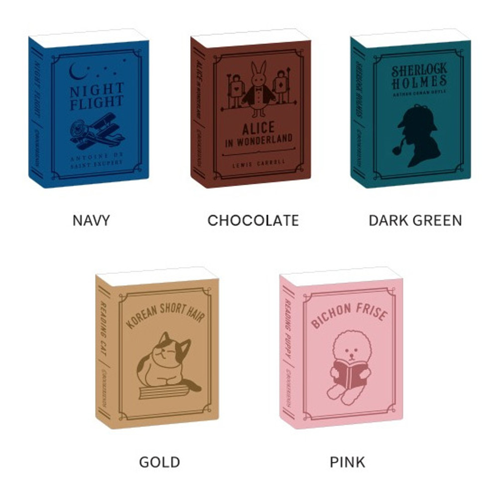 Color - Bookfriends Book PU sticky pocket phone card case wallet