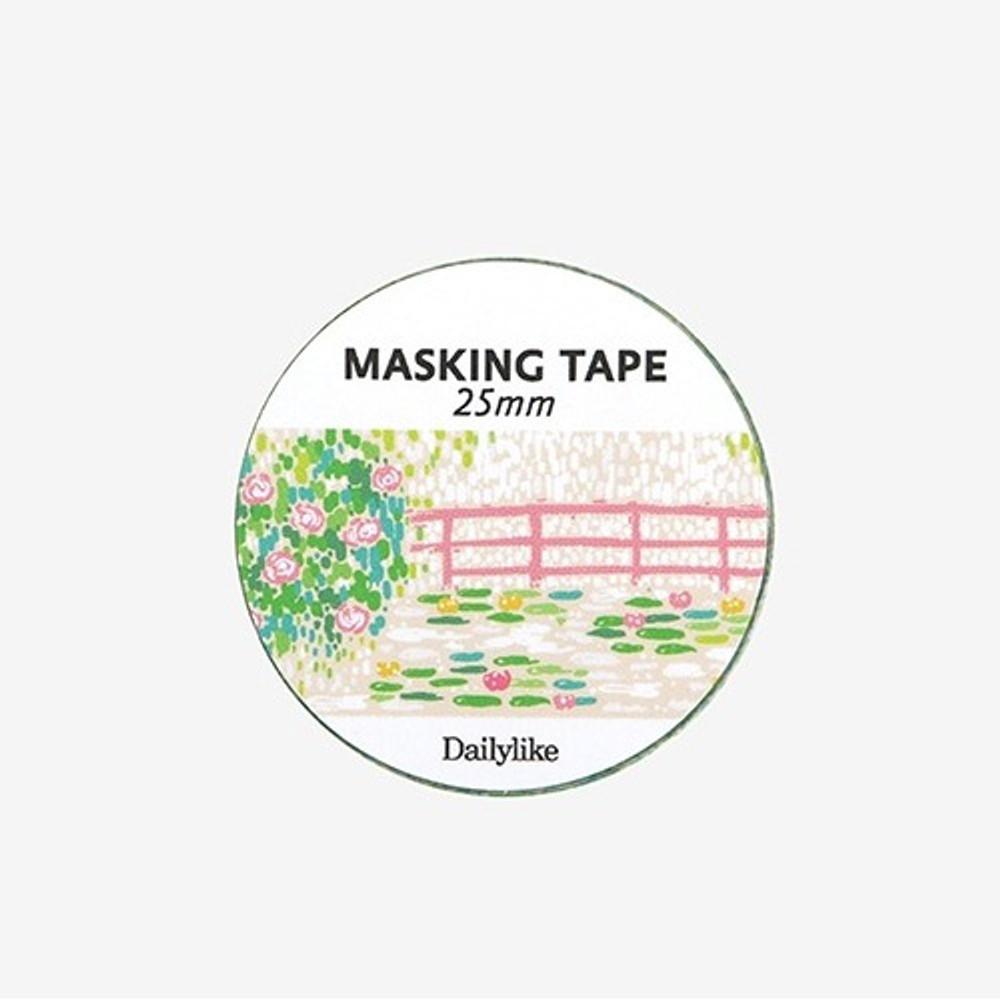 Dailylike Deco 25mm single roll masking tape - Giverny