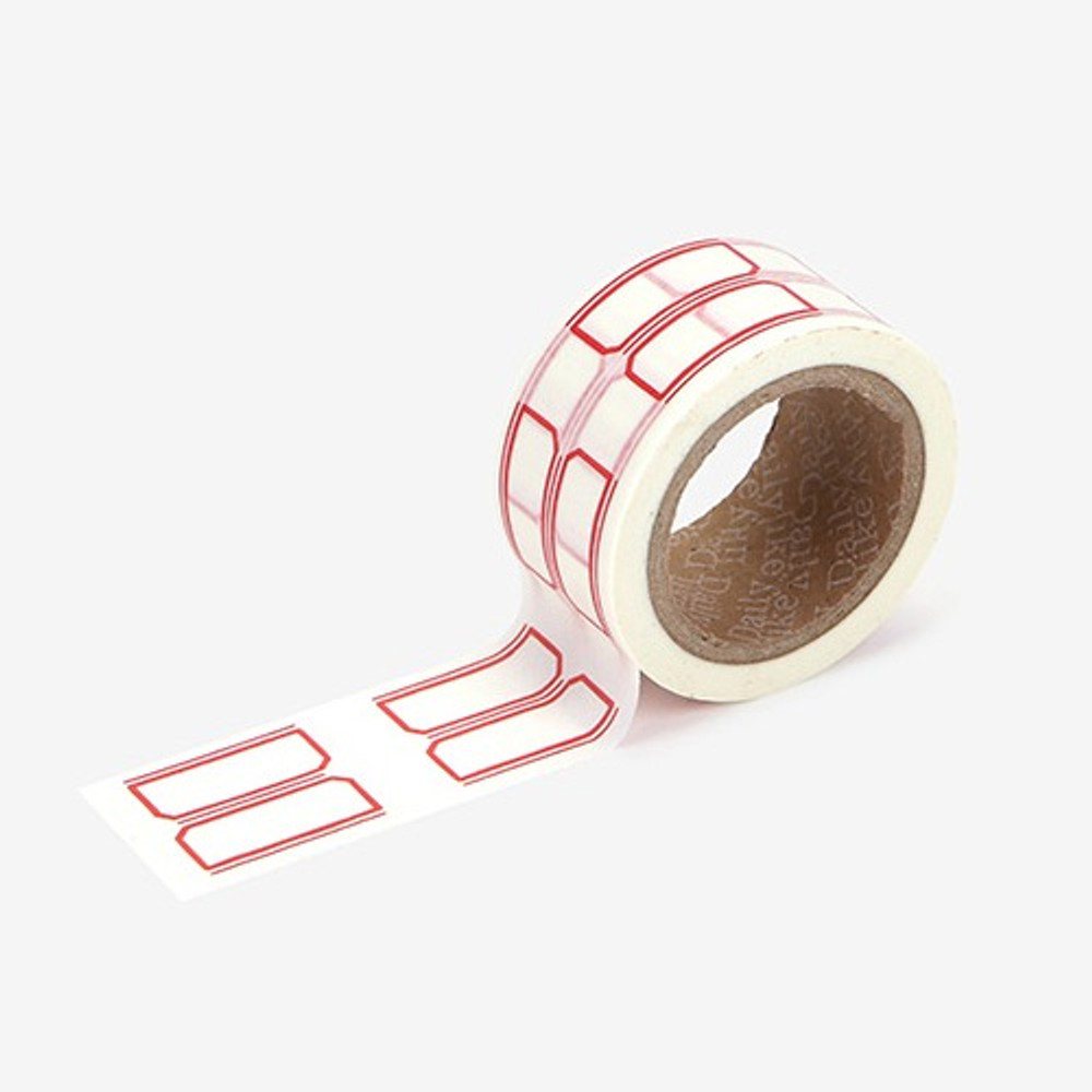 Dailylike Deco 25mm single roll masking tape - Name tag 2