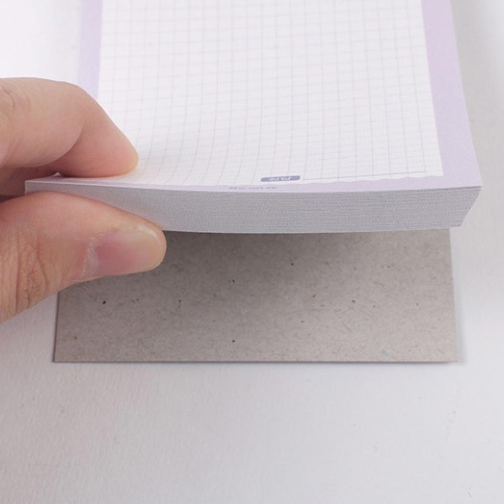 Sturdy back - After The Rain Hally day deco pocket plain memo notepad