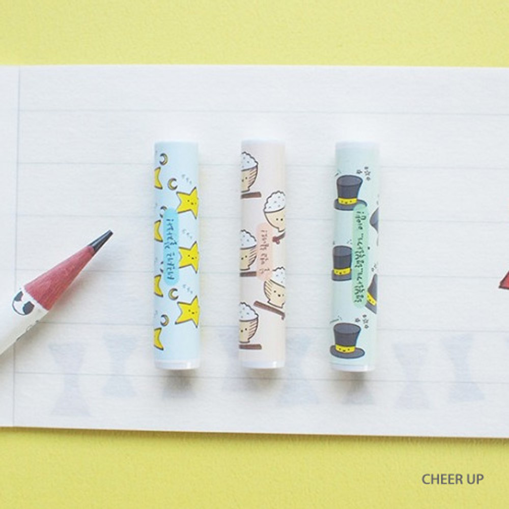 Cheer up - Hello Today Design pencil cap set