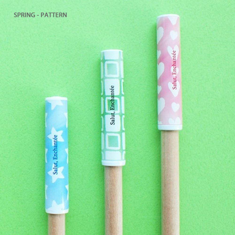 Spring-pattern - Hello Today Design pencil cap set