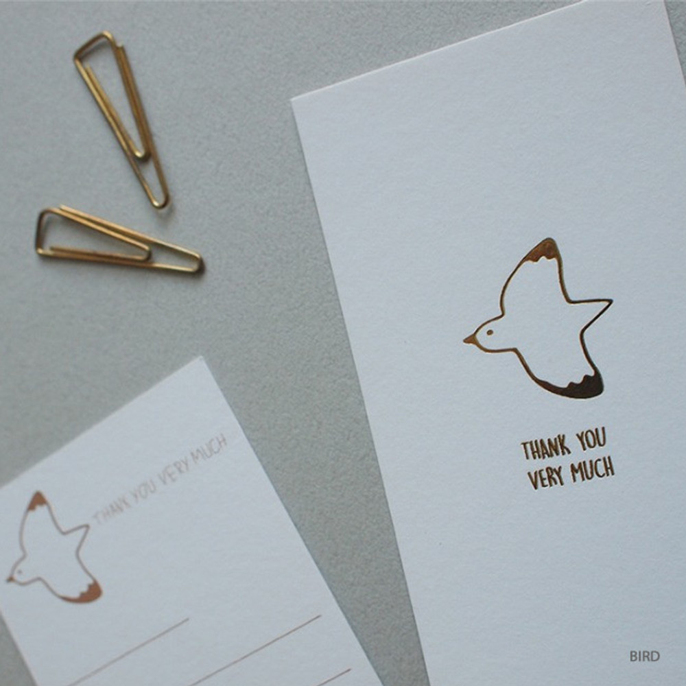 Bird - Hello Today Hushed brown twinkle animal message post card