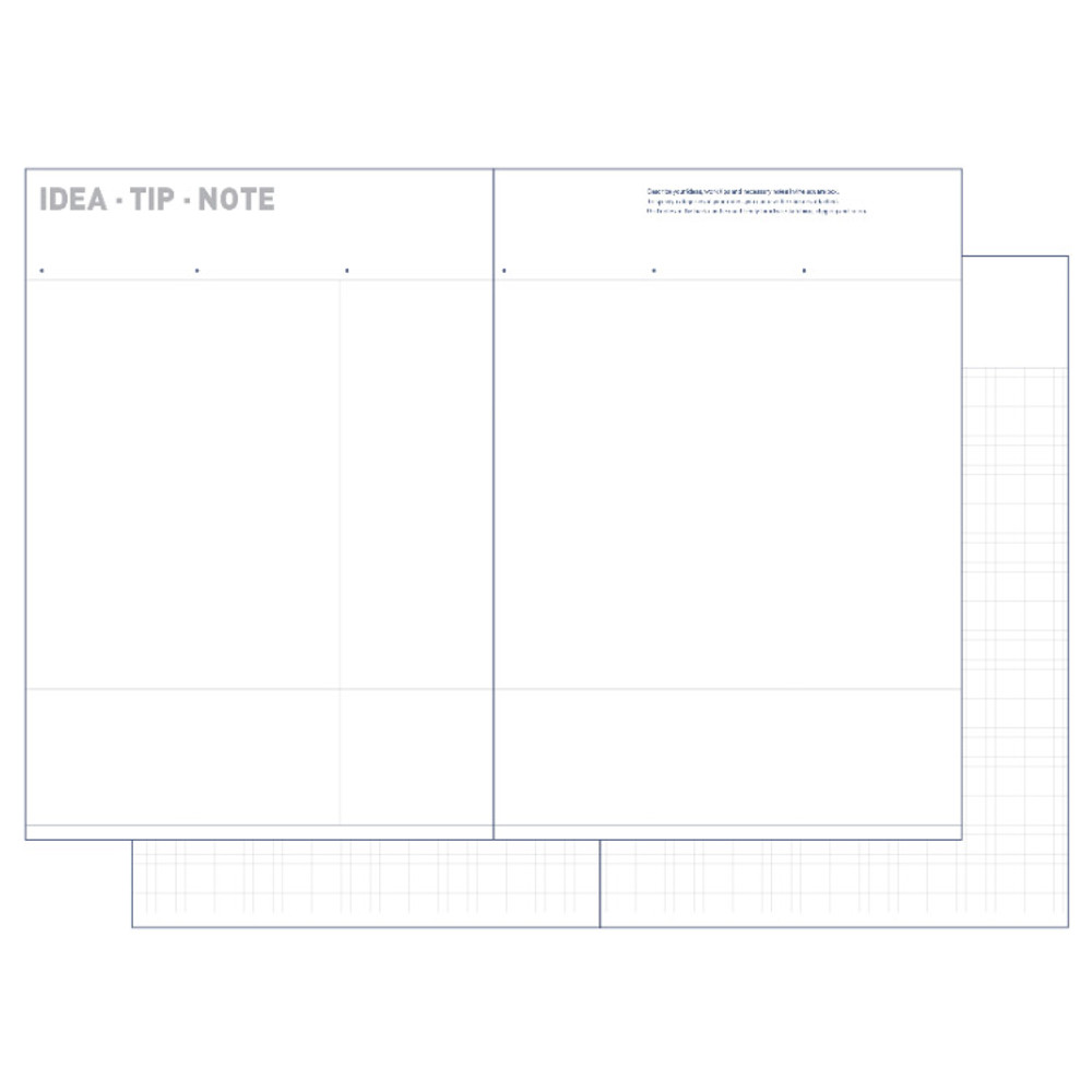 Idea, Tip, Note - All about the project dateless weekly planner