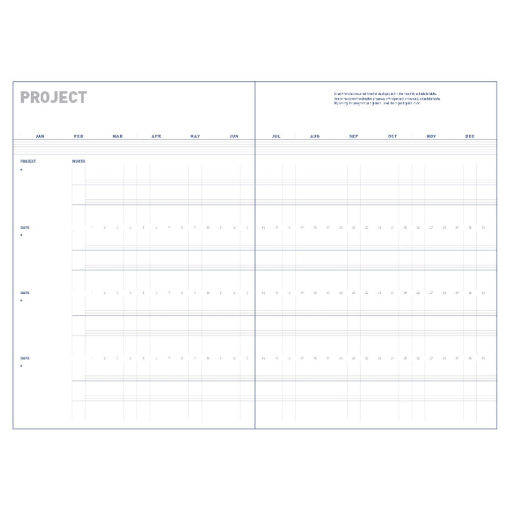 Project - All about the project dateless weekly planner