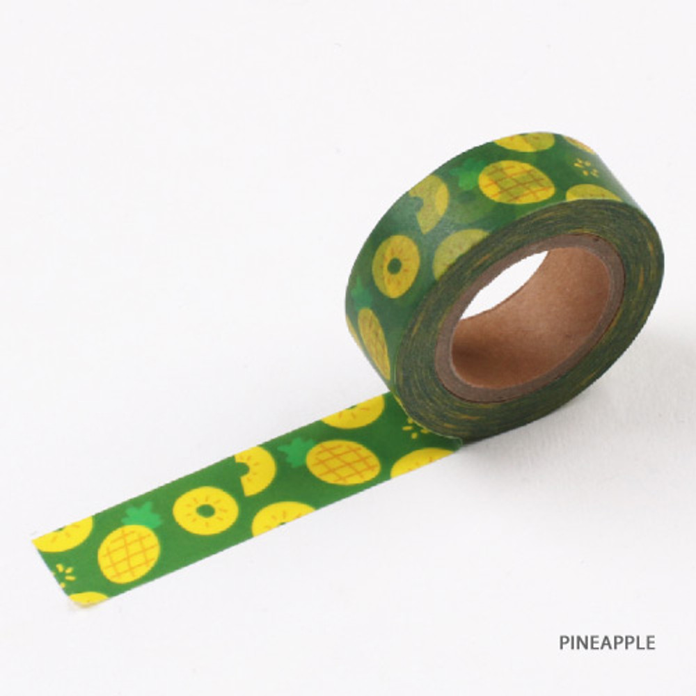 Pineapple - Fruits pattern masking tape 15mm X 10m