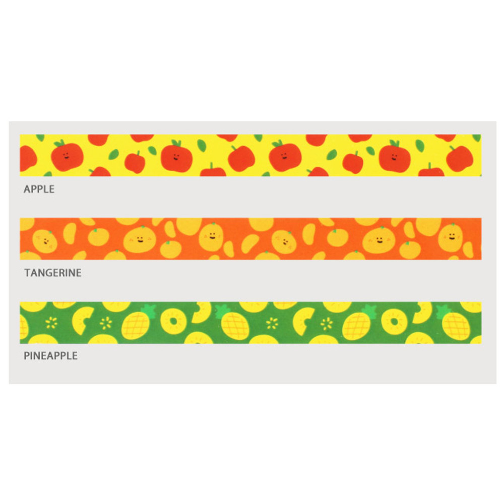 Fruits pattern masking tape 15mm X 10m