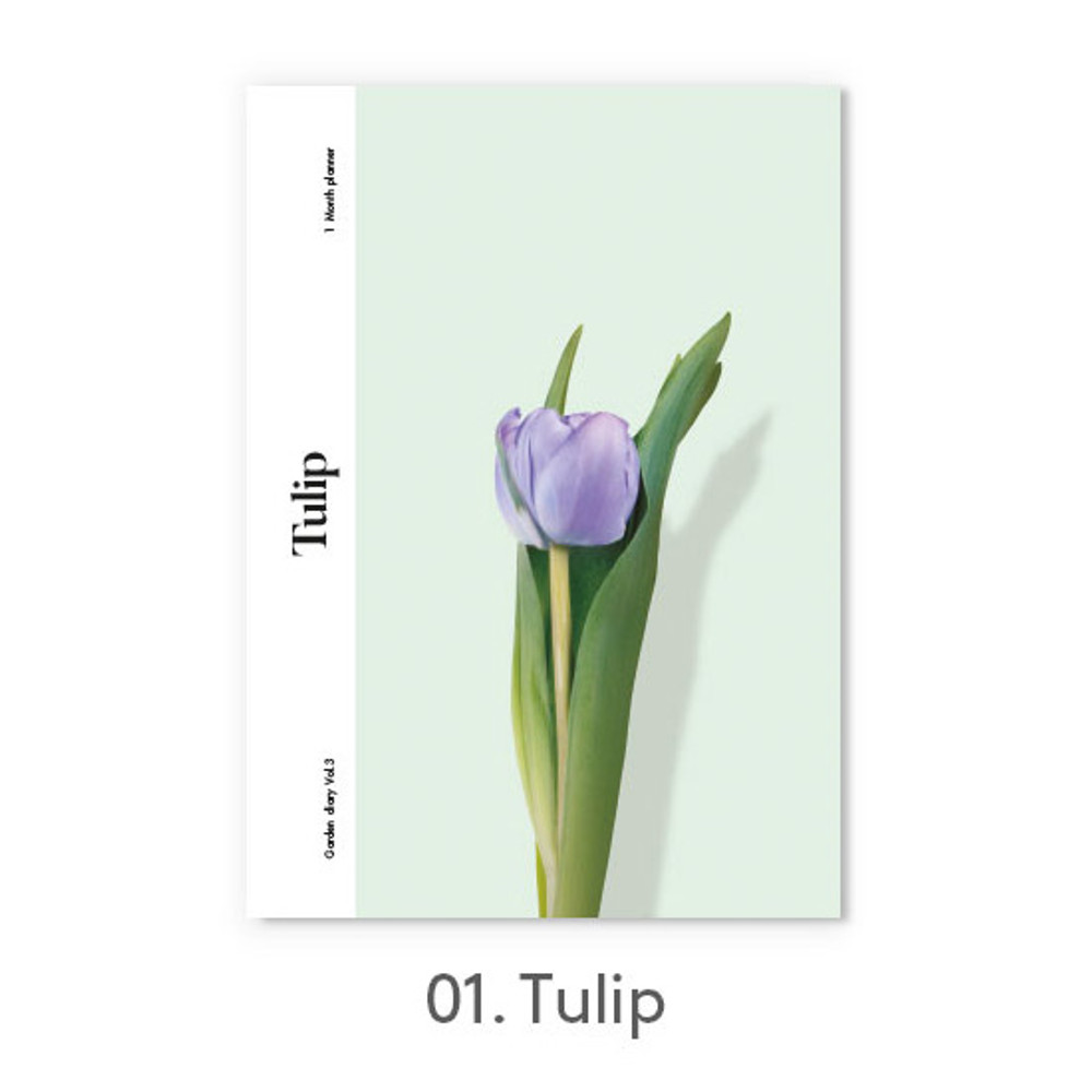 Tulip - Garden one month dateless daily diary planner