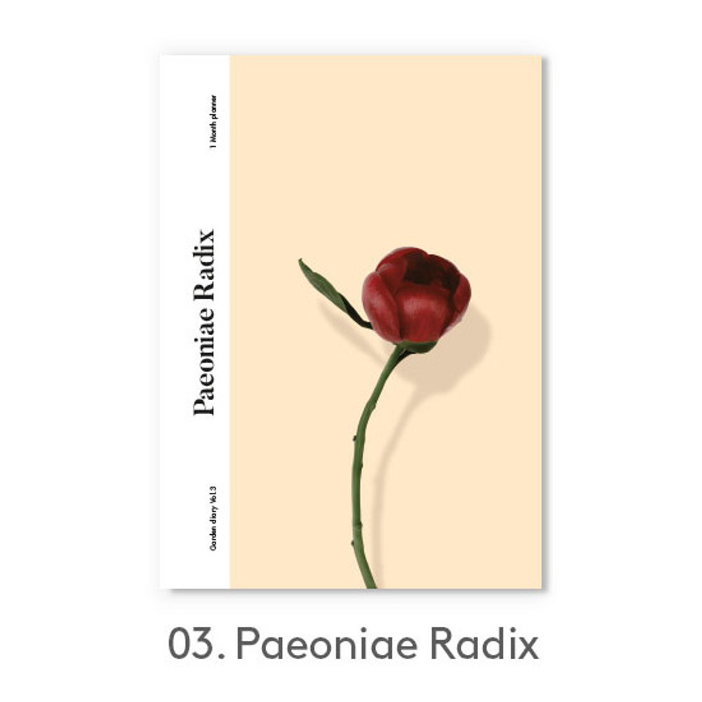 Paeoniae Radix - Garden one month dateless daily diary planner
