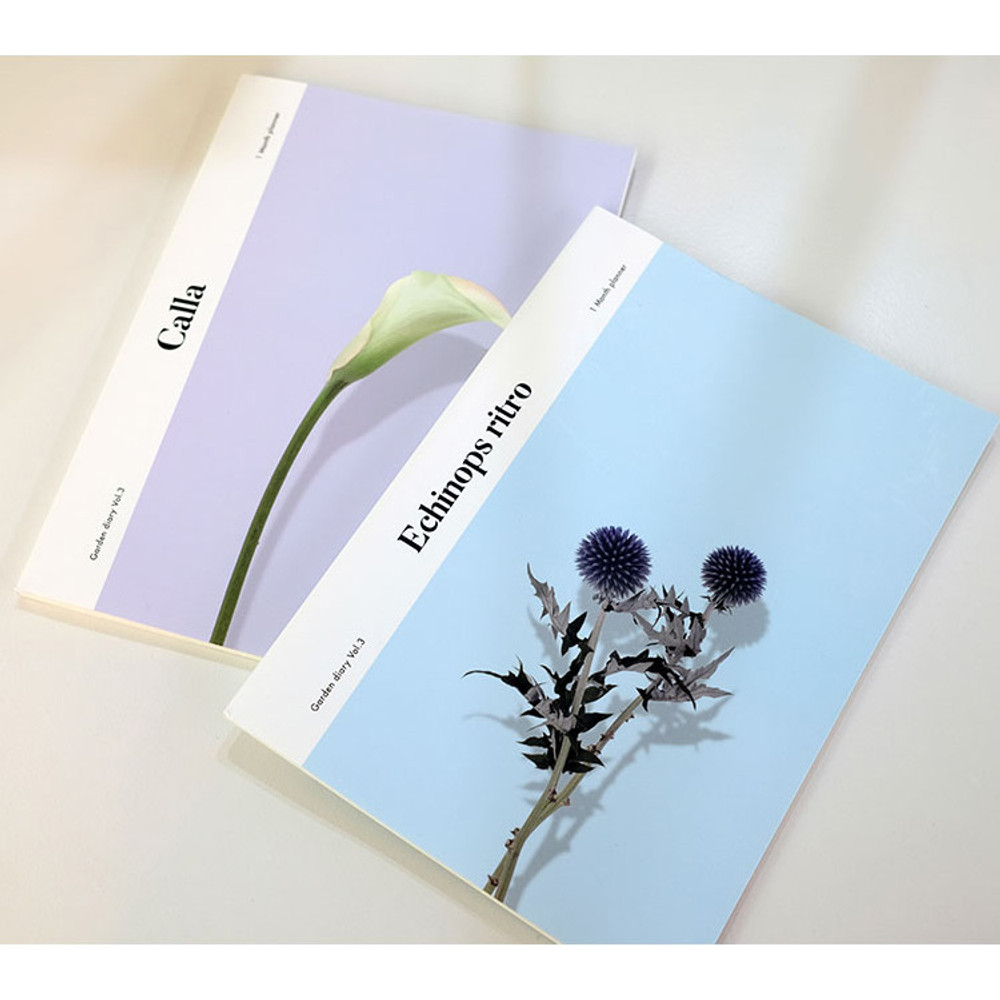 Garden one month dateless daily diary planner