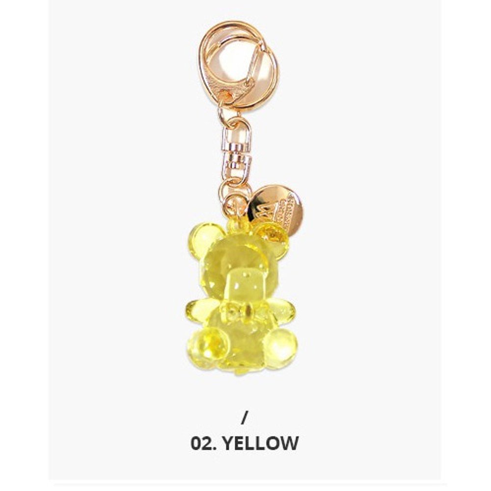 Yellow - Twinkle bear acrylic key ring clip chain holder