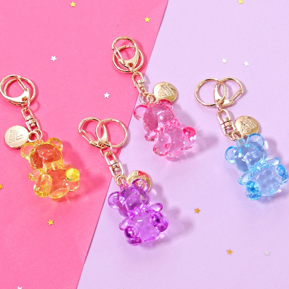 Second mansion Twinkle bear acrylic key ring clip chain holder