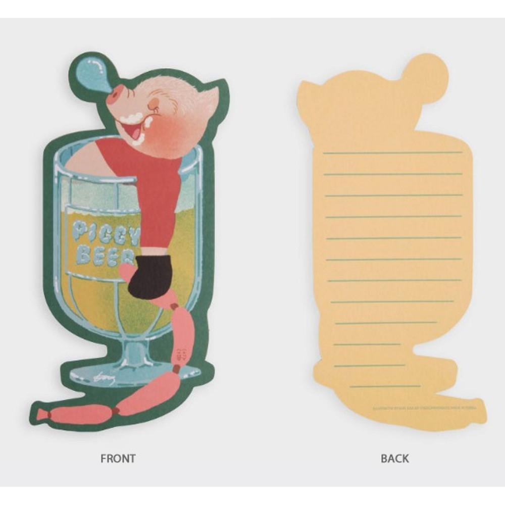 SOSOMOONGOO Sleeping piggy card and envelope set