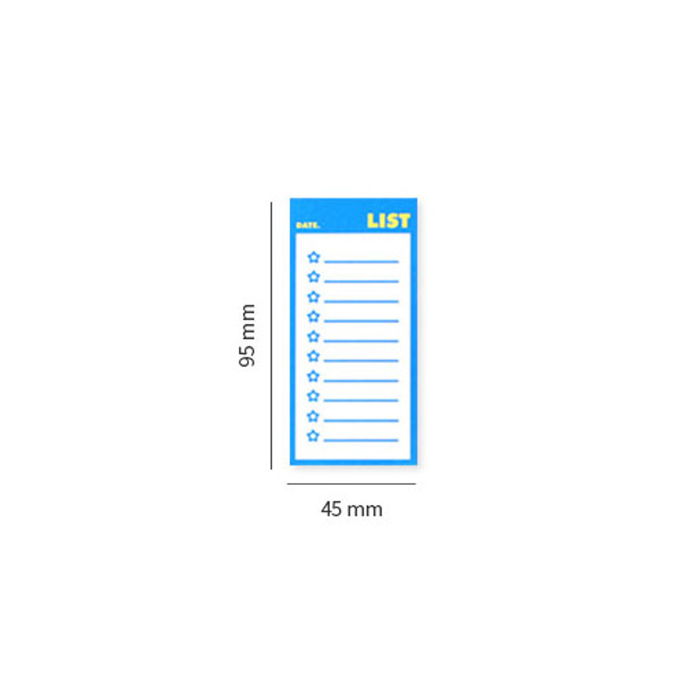 Size - Lucalab Neon small checklist memo notepad
