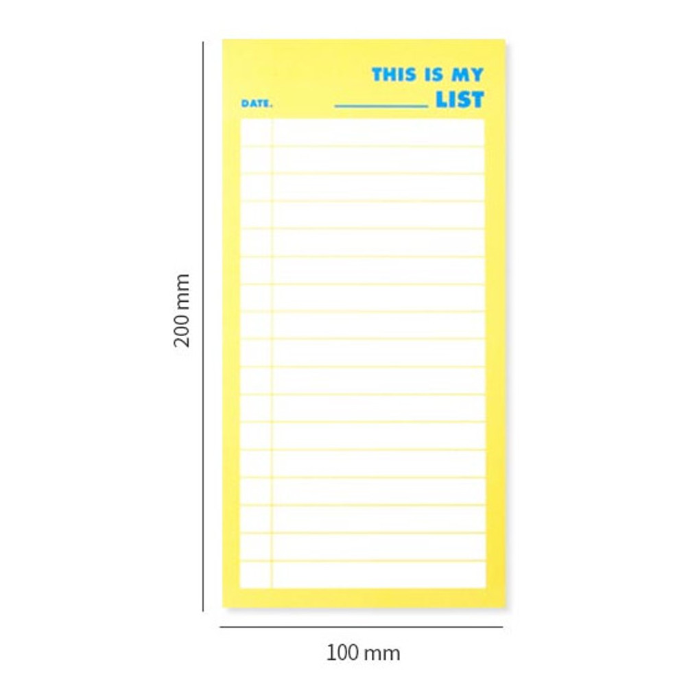 Size - Lucalab Neon large checklist memo notepad