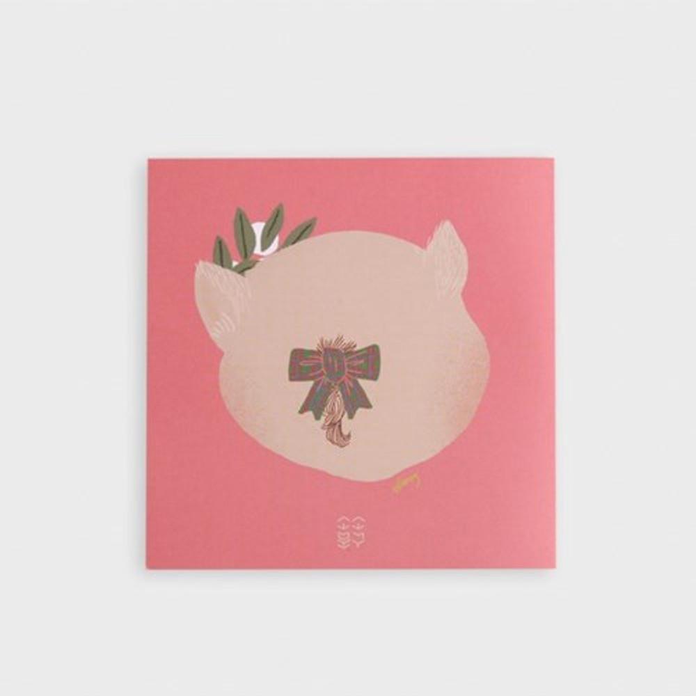 SOSOMOONGOO Piggy smile folding card and envelope set