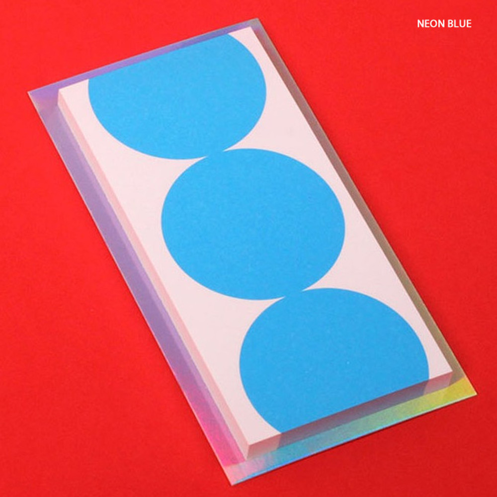 Neon blue - Lucalab Neon three dots plain notepad