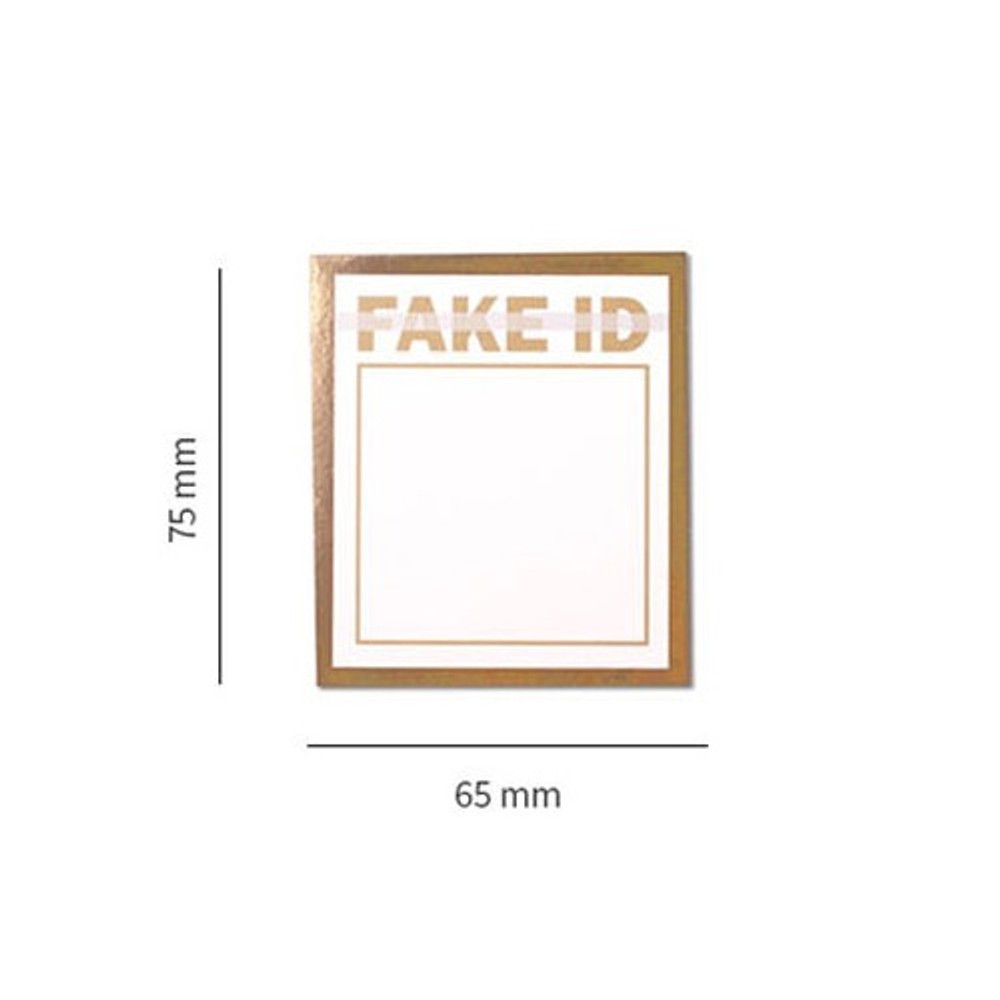 Size - Lucalab Fake ID plain memo notepad