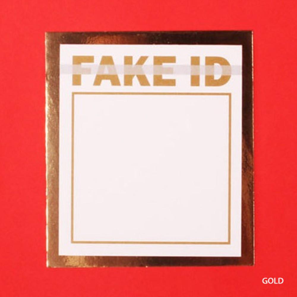 Gold - Lucalab Fake ID plain memo notepad