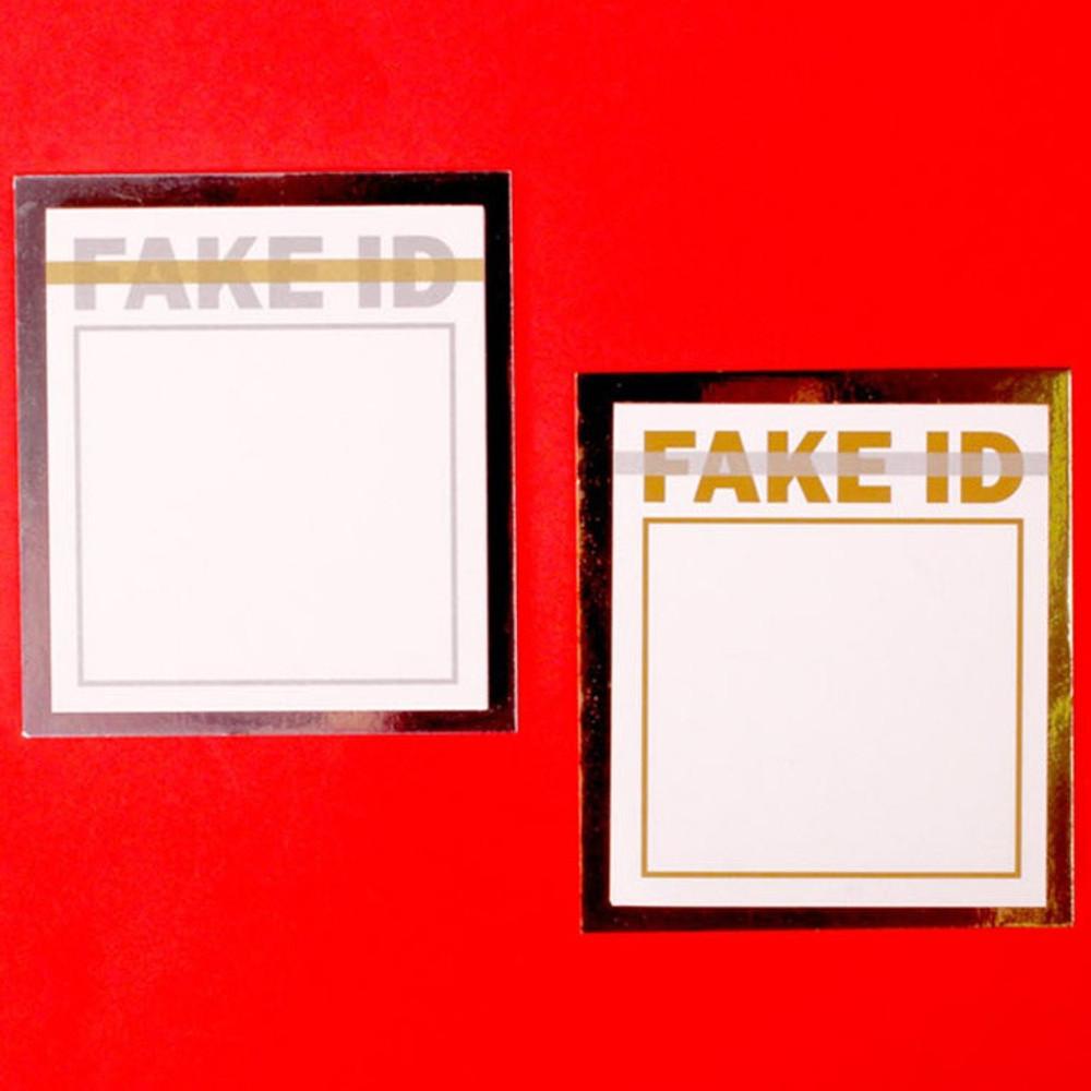Fake ID plain memo notepad