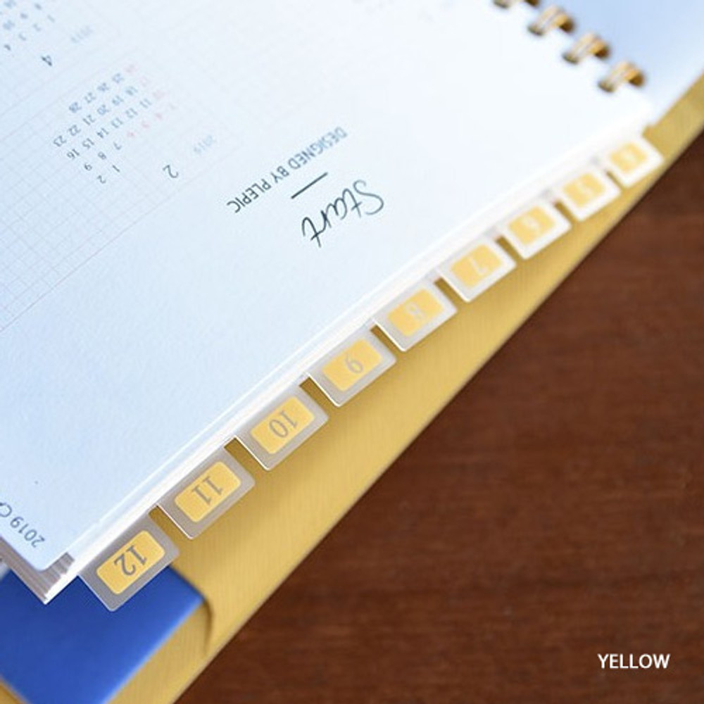 Yellow - Feel so good clear adhesive index tab deco sticker