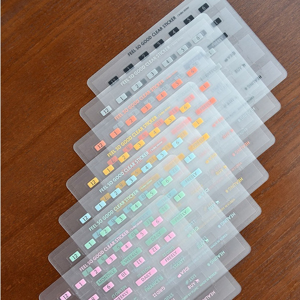 Feel so good clear adhesive index tab deco sticker
