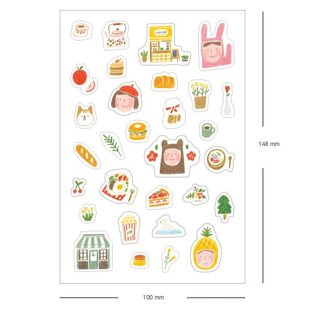 Size - My favorite day transparent deco sticker