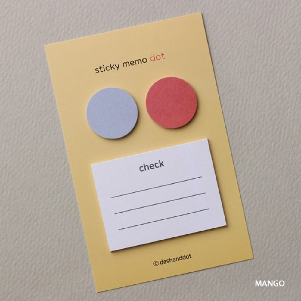 Mango - Dash and Dot Dots and check memo notes sticky notepad