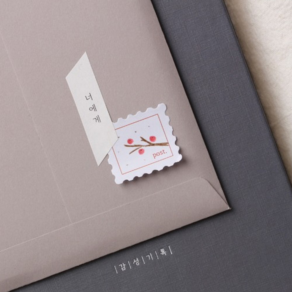 Example of use - Stamp and squared manuscript paper sticky notes memo notepad