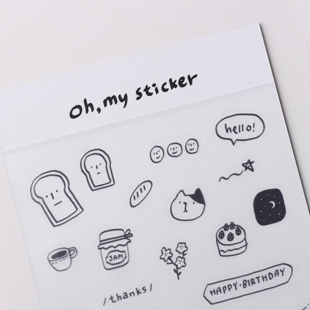 Dash and Dot Oh my transparent deco sticker