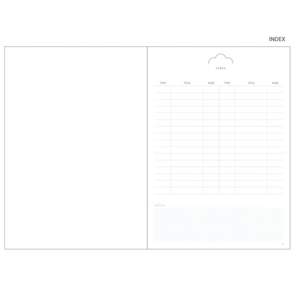 Index - Cloud story office life dateless daily planner