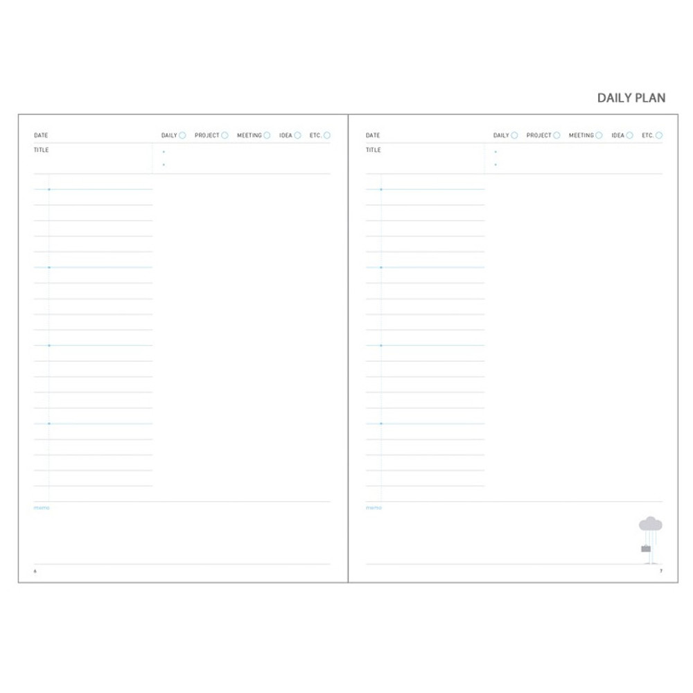 Daily plan - Cloud story office life dateless daily planner