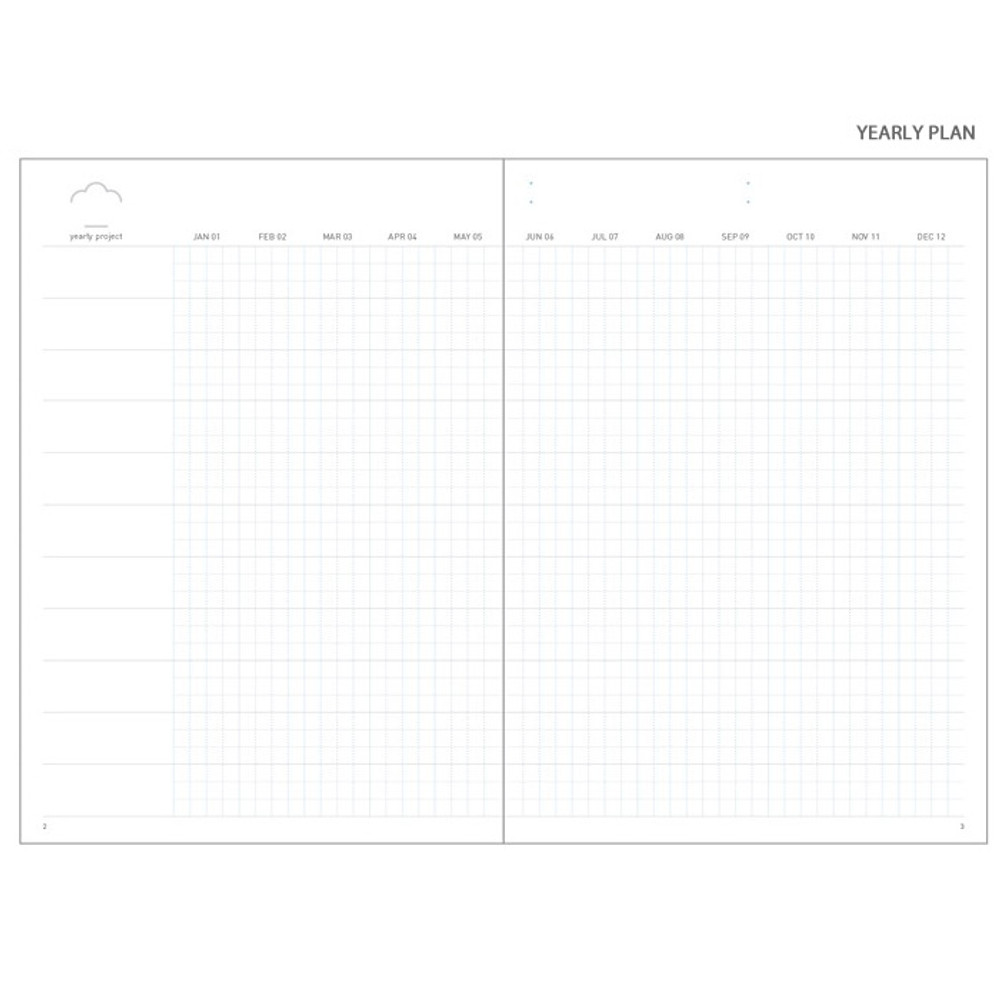 Yearly plan -  Cloud story office life dateless daily planner