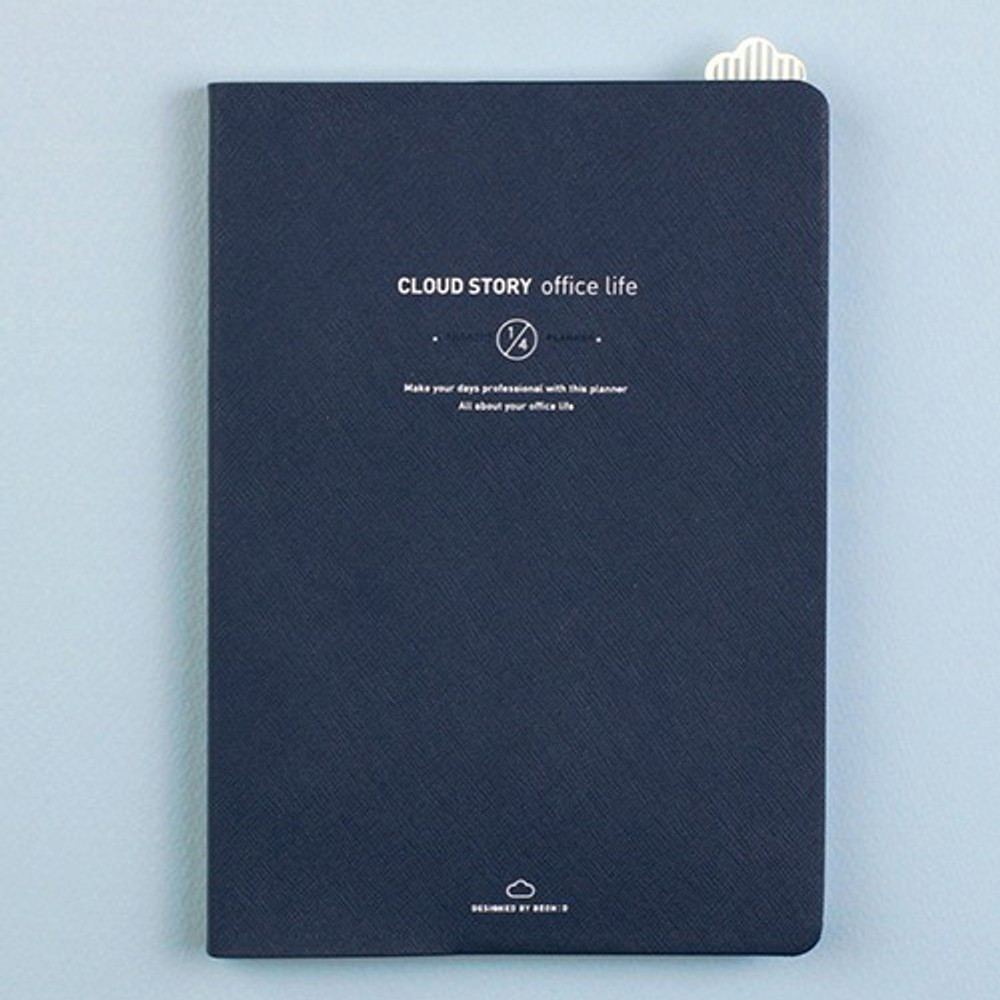 Navy -  Cloud story office life dateless daily planner