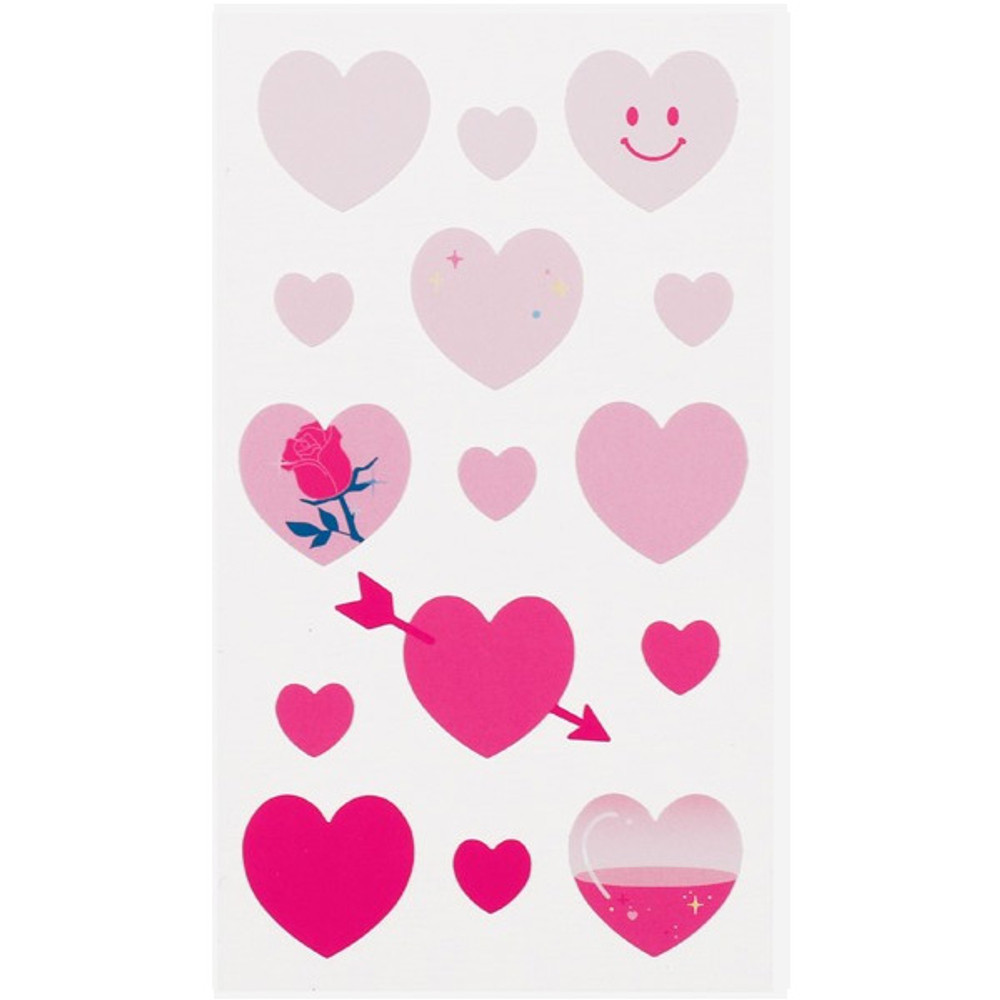 Warm pink heart - Love and peace paper deco sticker