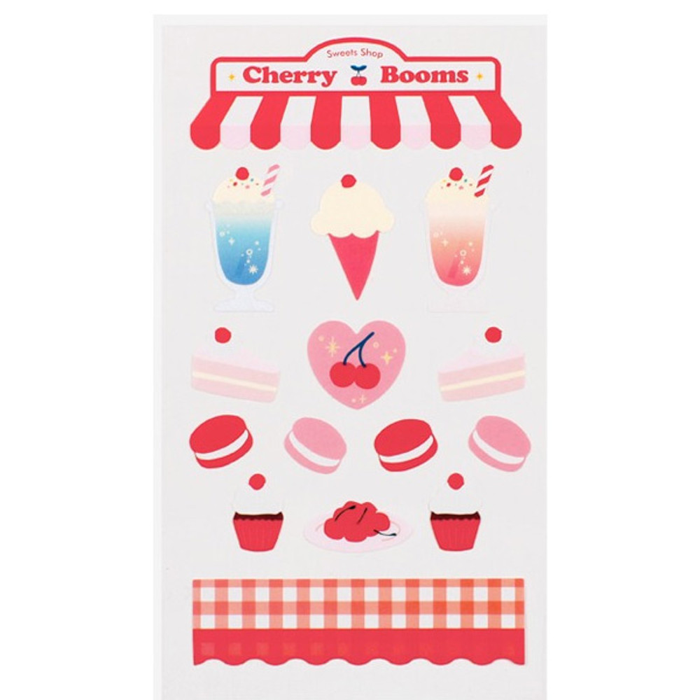 Cherry dessert - Love and peace paper deco sticker