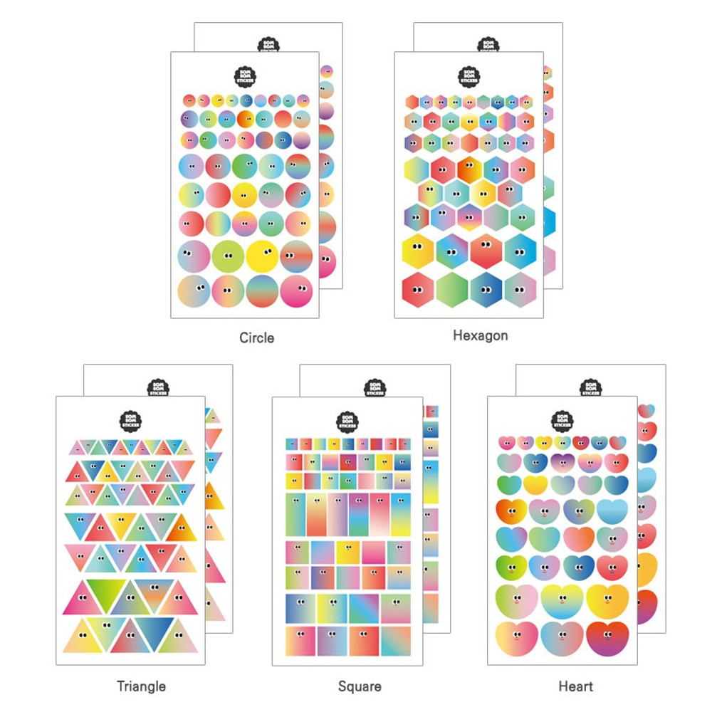Composition - Som Som gradation deco sticker set of 10 sheets