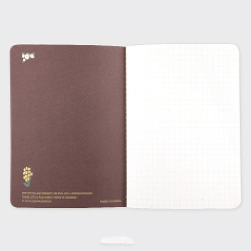 Wolf is coming sewn bound small grid notebook