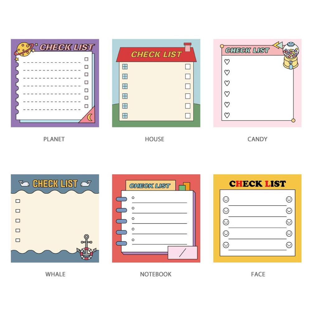 Option - Ardium Cute checklist to do list memo notepad