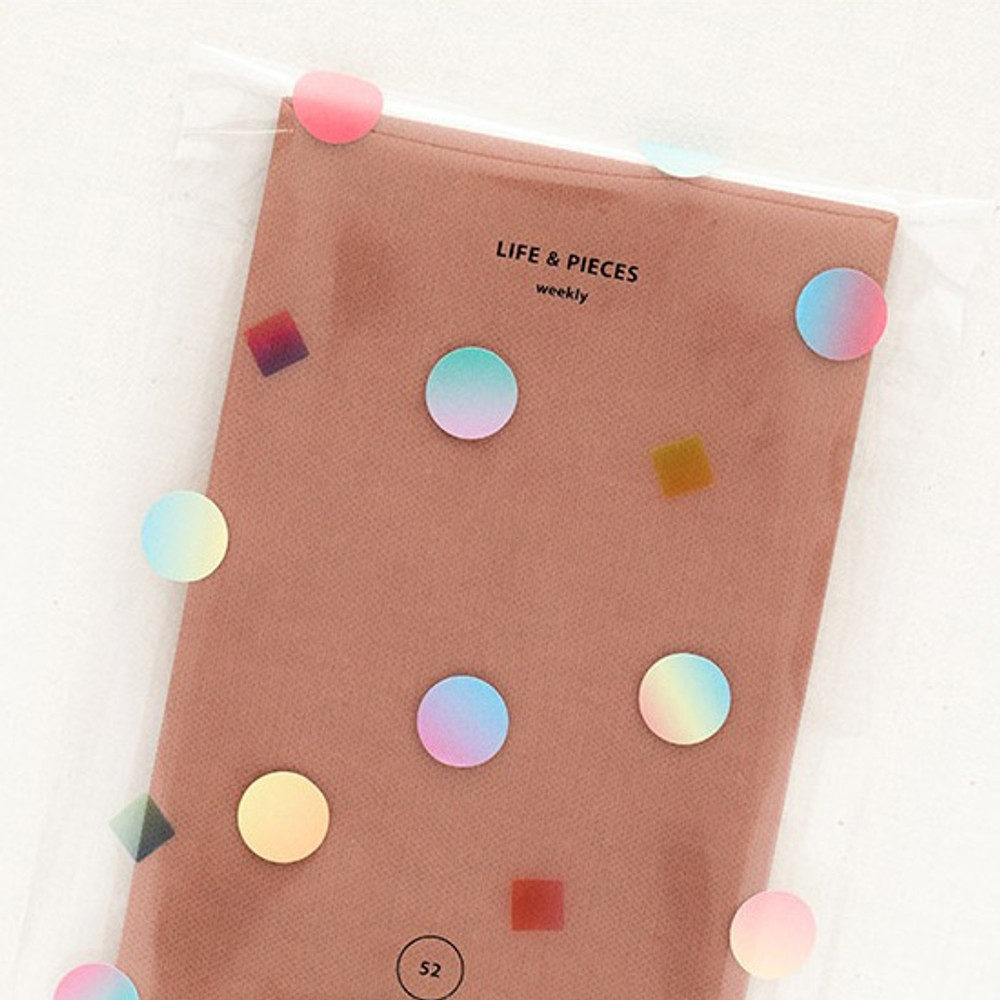 Example of use - Color palette gradation deco sticker set of 10 sheets
