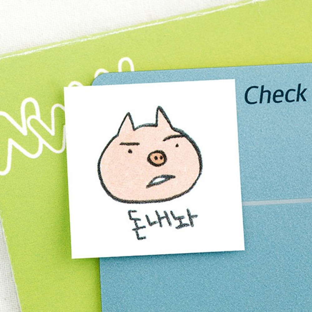 Example of use - Todac Todac message paper deco sticker set