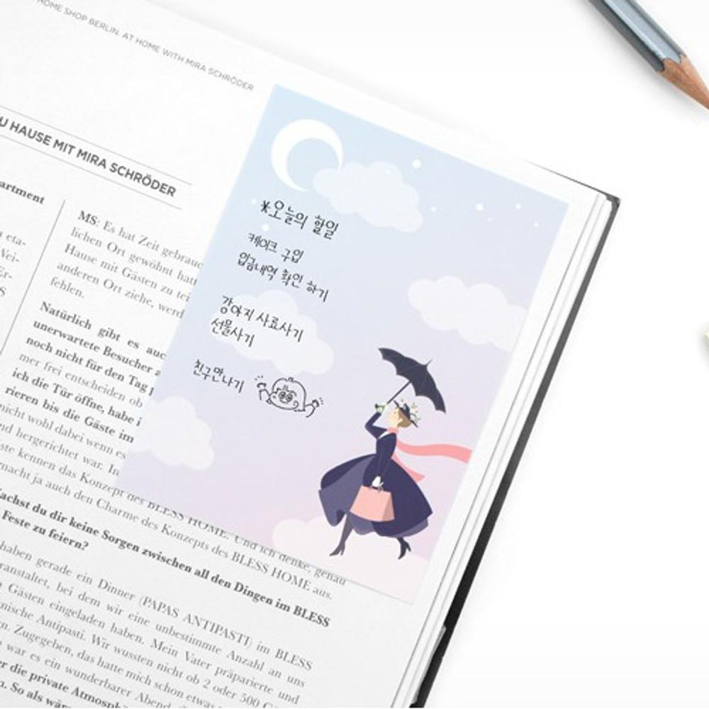 Example of use - World literature illustration sticky memo notepad