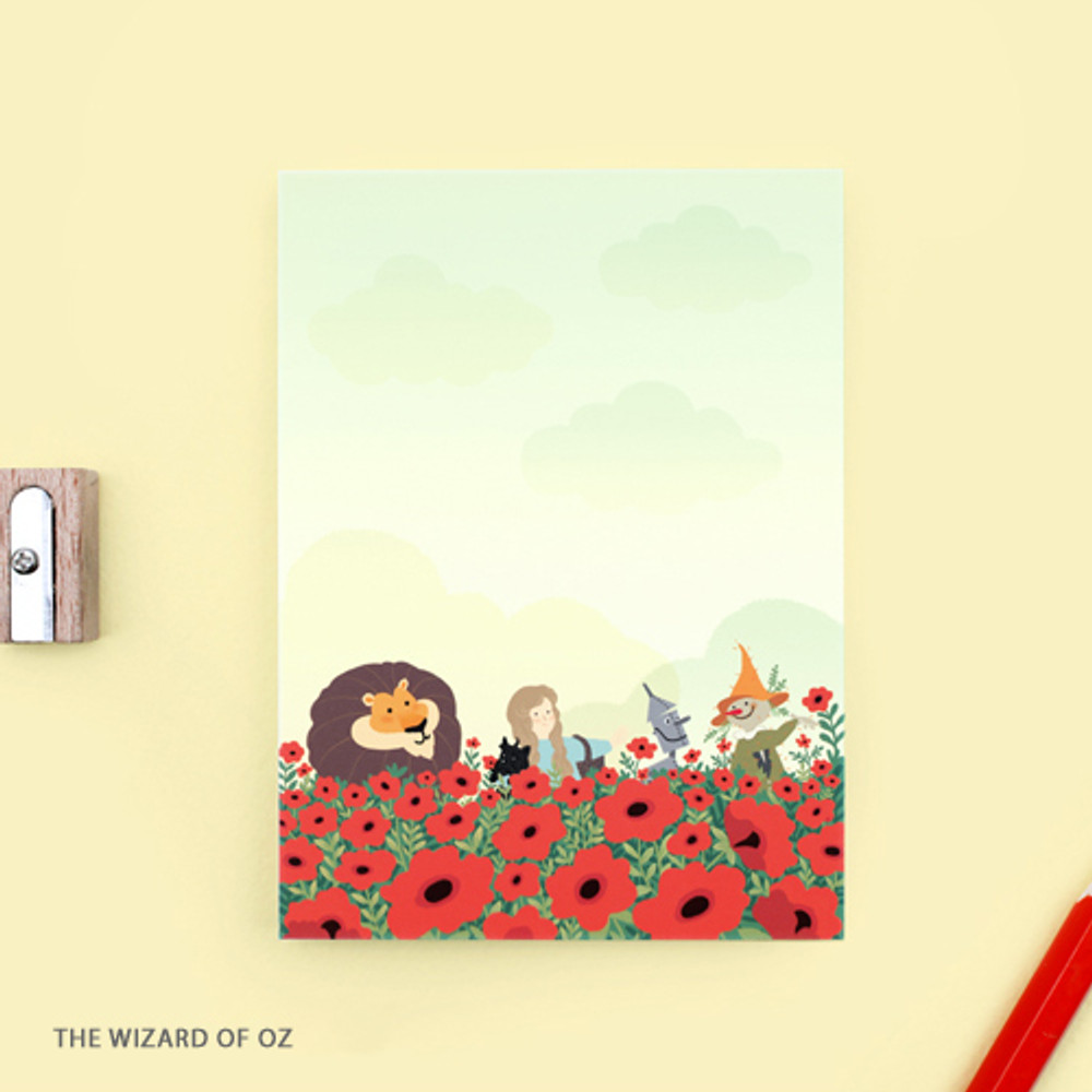 The wizard of OZ - World literature illustration sticky memo notepad